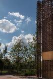Drewniana struktura: Szczegół budynek z Nowożytnym Architektonicznym d Fotografia Stock