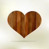Drewniana struktura w postaci serca. EPS 8 Obraz Royalty Free