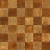 Drewniana szachowa deska brogująca dla bezszwowego tła Zdjęcia Stock