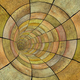 Drewniana szalunek płytki tunelu drymba w pomarańczowym kolorze żółtym zdjęcia royalty free