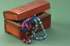 drewniana szkatuły biżuteria Obraz Royalty Free