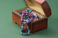 drewniana szkatuły biżuteria Obraz Stock