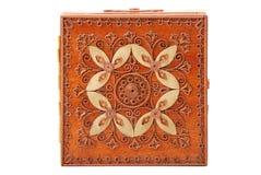 drewniana szkatuły czerwień Fotografia Royalty Free