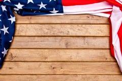 drewniana tło amerykańska flaga Flaga Stany Zjednoczone obrazy stock