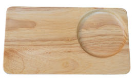 Drewniana taca Fotografia Stock