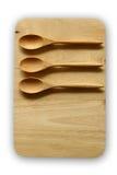 Drewniana taca i łyżka Obraz Royalty Free