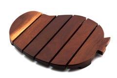 Drewniana taca jedzenie odizolowywa na bielu Obrazy Stock