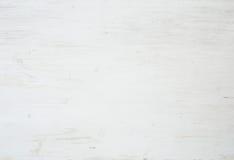 Drewniana tekstura, biały drewniany tło z kuchenną pieluchą, horyzontalną Zdjęcia Royalty Free