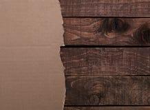 Drewniana tekstura i rocznika papier Fotografia Stock