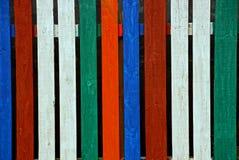 Drewniana tekstura od barwionych płotowych barów zdjęcie stock