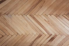 Drewniana tekstura parkietowy deseniowy brudno- tło herringbone Zdjęcie Royalty Free