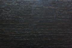 drewniana tekstura w czerni Obrazy Royalty Free