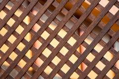 Drewniana tekstura z sprawdzać wzorami Obraz Royalty Free