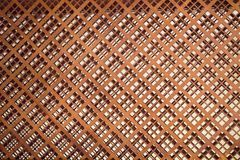 Drewniana tekstura z sprawdzać wzorami Zdjęcia Royalty Free