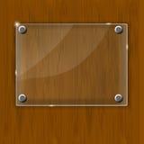 Drewniana tekstura z szklaną strukturą. Wektor Fotografia Stock