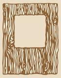 Drewniana tekstury fotografii rama Zdjęcie Stock