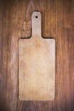 Drewniana tnąca deska zdjęcie royalty free