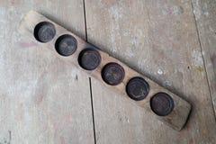 Drewniana tortowa foremka zdjęcia stock