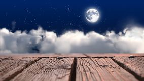 Drewniana tratwa wznosi się przez nieba zdjęcie wideo