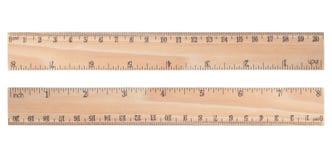 drewniana władca zdjęcia stock