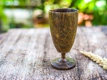 Drewniana wino trawa Obrazy Royalty Free