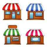 Drewniana witryny sklepowej ikona Fotografia Stock