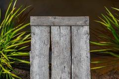 Drewniana woda i molo Odgórny widok obraz royalty free