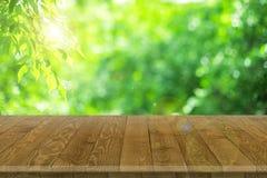 Drewniana worktop powierzchnia z starym naturalnym wzorem Zdjęcie Royalty Free