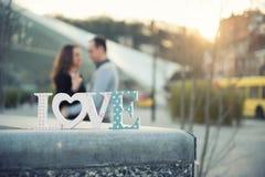 Drewniana wpisowa miłość Zdjęcia Stock