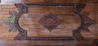 Drewniana wykonująca ręcznie dach ściana Zdjęcie Stock