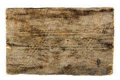 Drewniana znak deska odizolowywająca na bielu fotografia stock