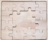 Drewniane łamigłówki. Obrazy Stock