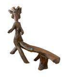 Drewniane ławki dla kochanków, na białym tle Zdjęcie Stock