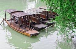 Drewniane łodzie Zdjęcie Royalty Free