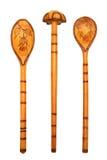 Drewniane łyżki Obrazy Royalty Free