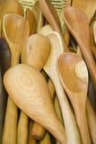 Drewniane łyżki Zdjęcia Stock