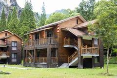 Drewniane ściany budynek zdjęcie royalty free