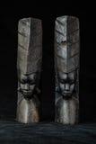Drewniane Afrykańskie podpórki Zdjęcia Stock