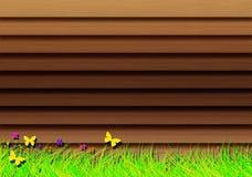 Drewniane żaluzje. royalty ilustracja