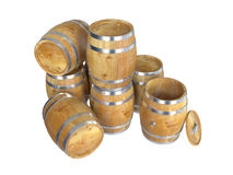 Drewniane baryłki Zdjęcie Royalty Free