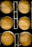 Drewniane baryłki wino lub whisky obrazy royalty free