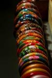 Drewniane bransoletki, bransoletki Fotografia Stock