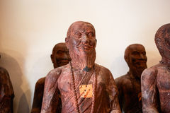 Drewniane Buddha statui postacie w Tajlandia Obraz Royalty Free