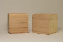 Drewniane cegły Fotografia Royalty Free