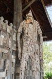 Drewniane cyzelowanie twarze ludzkie zdjęcie stock
