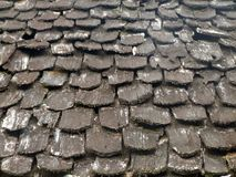 Drewniane dachowe płytki Fotografia Stock