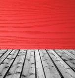 Drewniane deski i czerwony drewno fotografia royalty free