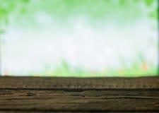 Drewniane deski na wiosny tle Obrazy Stock