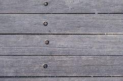 Drewniane deski z ośniedziałymi śrubami Fotografia Royalty Free