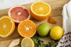 drewniane deskowe owoc Zdjęcie Royalty Free
